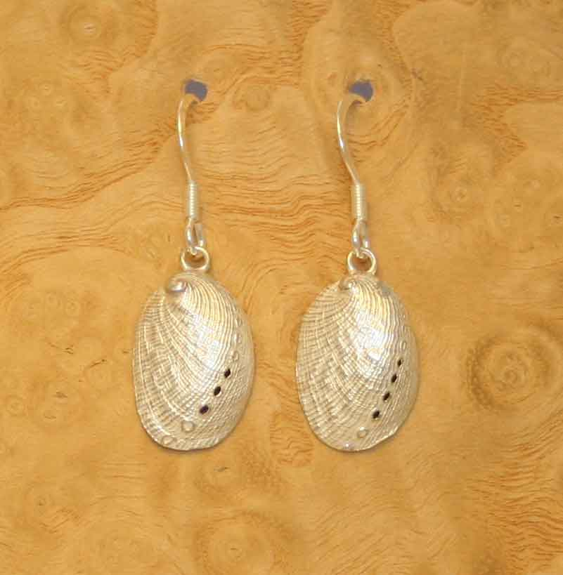 Abalone earrings, solid Sterling silver, £49.50